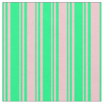 [ Thumbnail: Green & Pink Stripes Fabric ]