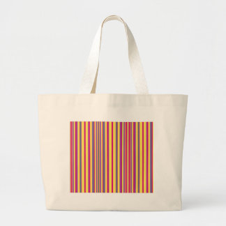Green Pink Yellow Blue and Purple Striped Canvas Bag