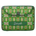 Green pink yellow lillypad MacBook Sleeve Case MacBook Pro Sleeves