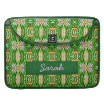 Green pink yellow lillypad MacBook Sleeve Case
