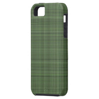 Green Pinstriped Fabric iPhone SE/5/5s Case