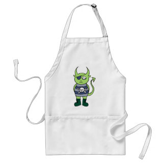 Green Pirate Monster Adult Apron