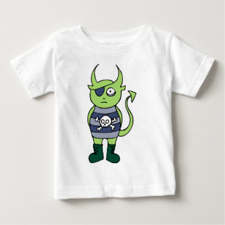 Green Pirate Monster Baby T-Shirt