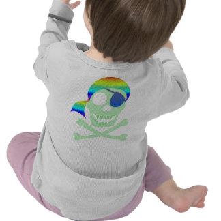 Green Pirate Skull 2-Sided Infant Longsleeve T-shirt