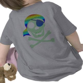 Green Pirate Skull 2-Sided Infant T-Shirt