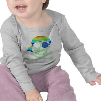 Green Pirate Skull Infant Longsleeve T-shirts