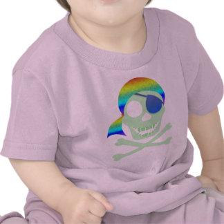 Green Pirate Skull Infant T-Shirt