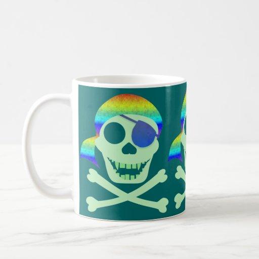 Green Pirate Skull Mugs