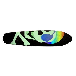 Green Pirate Skull Skateboard