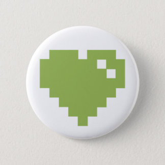 Green Pixel Heart Pin