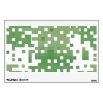 Green Pixel Pattern Wall Sticker
