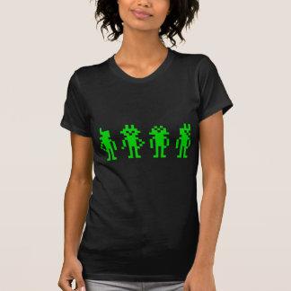 green pixel robots tshirts
