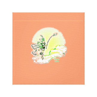 Green Pixie Wrapped Canvas