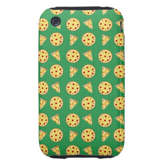 green pizza pattern tough iPhone 3 cases