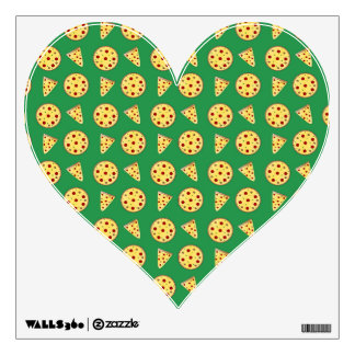 green pizza pattern wall graphic