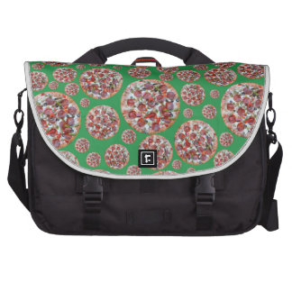 Green pizza pie laptop commuter bag