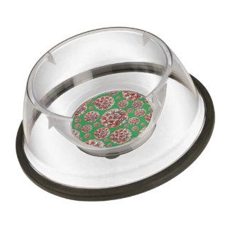 Green pizza pie pet bowl
