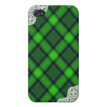 Green Plaid and Lace - Girly iPhone Cases iPhone 4 Covers