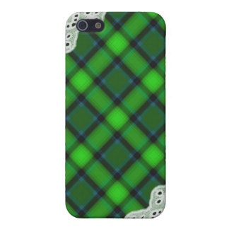 Green Plaid and Lace - Girly iPhone Cases