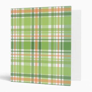 Green Plaid Vinyl Binder