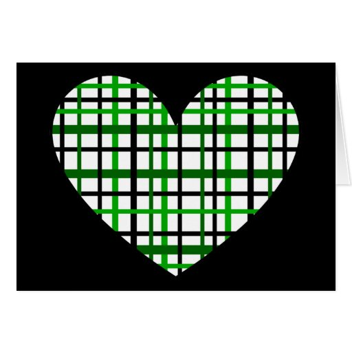 Green Plaid Card