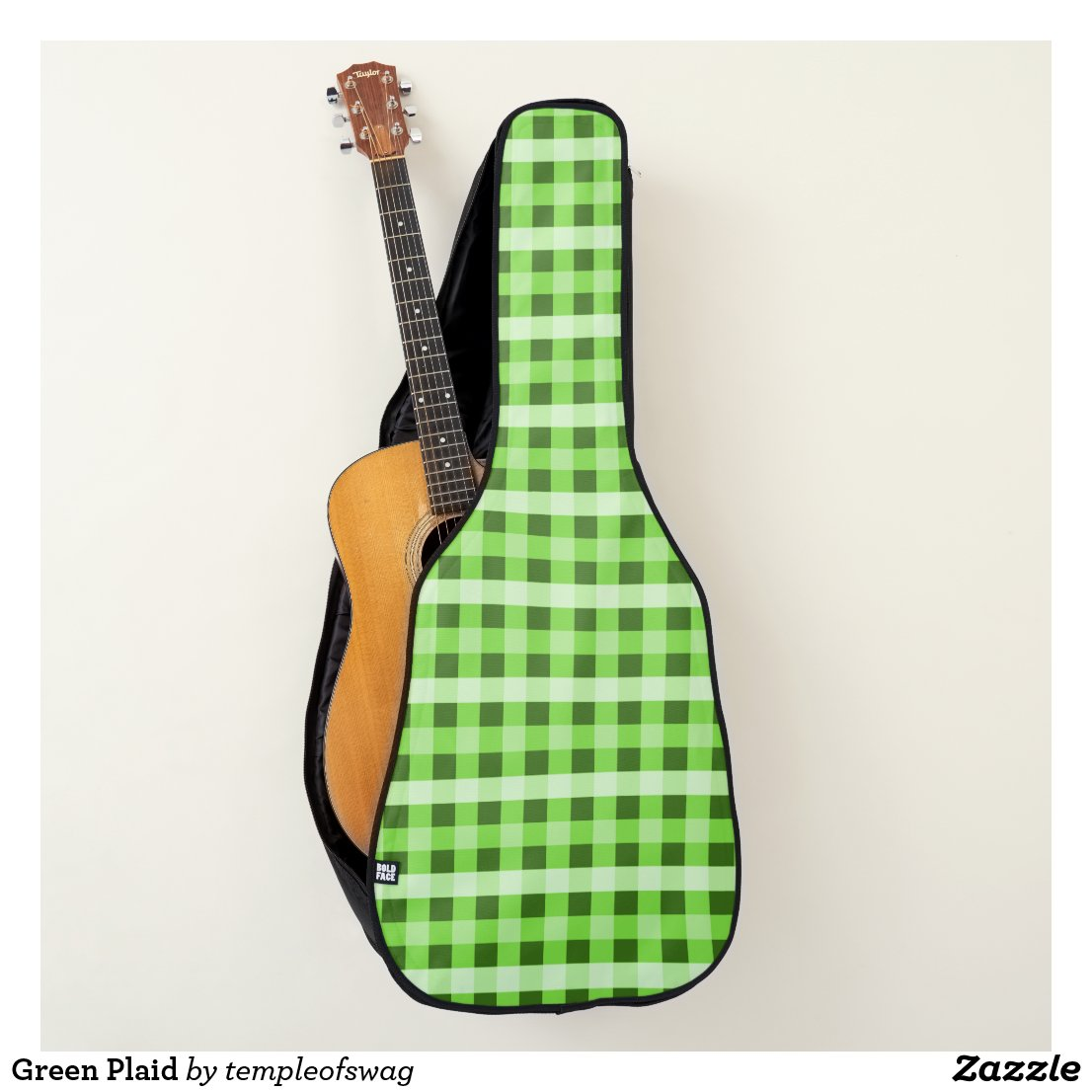 Green Plaid Guitar Case