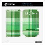 """""""Green Plaid"""" HTC Inspire 4G Decal"""