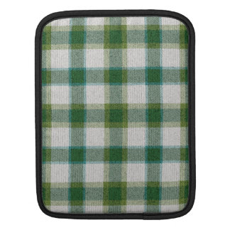 Green Plaid Sleeve For iPads
