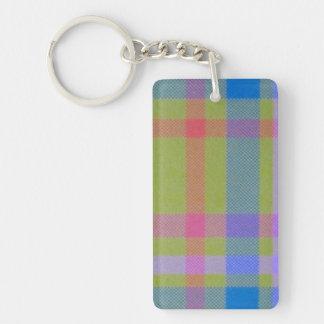 Green Plaid Keychain