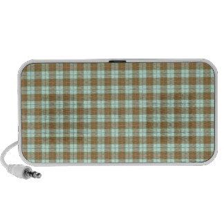 Green Plaid Notebook Speakers