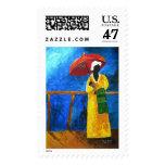 Green plaid on the broadwalk 2008 postage stamp
