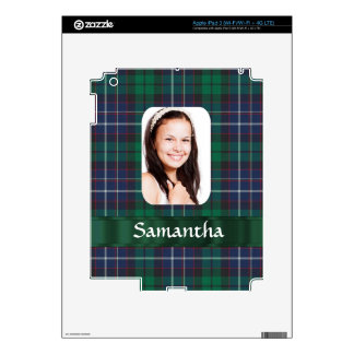Green plaid photo personalized photo template iPad 3 skin