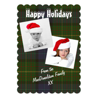 Green plaid photo template Christmas holiday