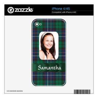 Green plaid photo template decal for the iPhone 4S
