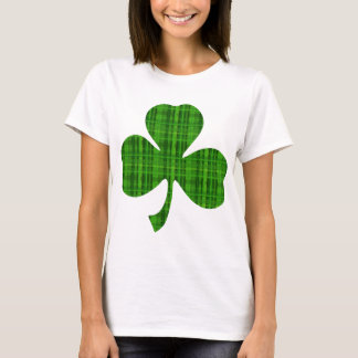 Green Plaid Shamrock T-Shirt