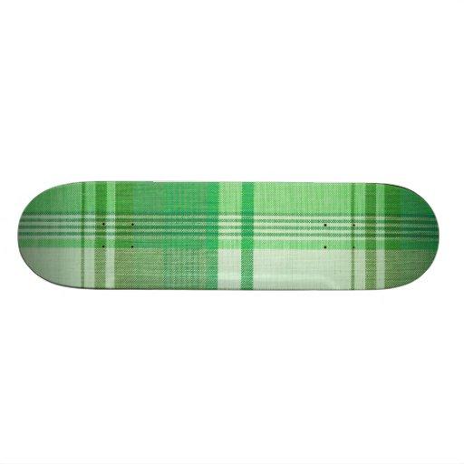 """Green Plaid"" Skateboard"
