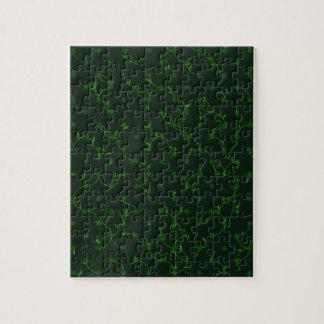Green plan pattern design jigsaw puzzle