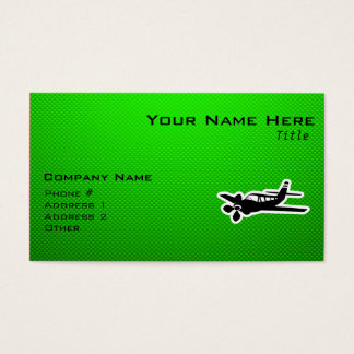 Green Plane Business Card