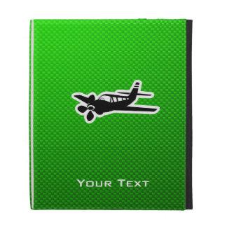 Green Plane iPad Folio Cases
