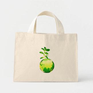 green planet mini tote bag