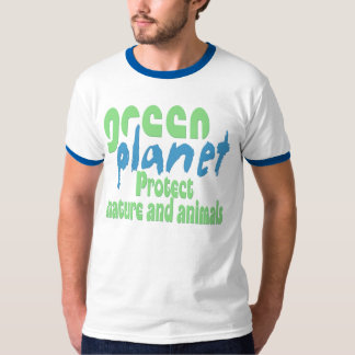green planet - protect nature and animals -. - tees