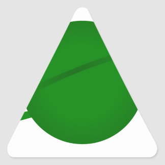 Green Planet Triangle Sticker