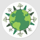 Green Planet Stickers
