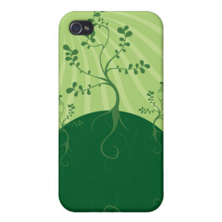 Green Planet Vector Design Case For iPhone 4