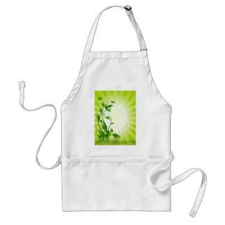 Green Plant Fash Adult Apron