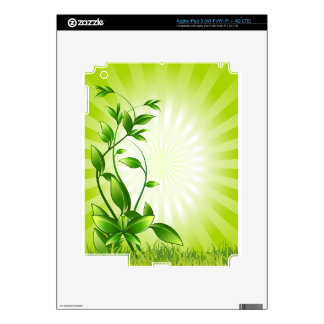 Green Plant Fash Skin For iPad 3