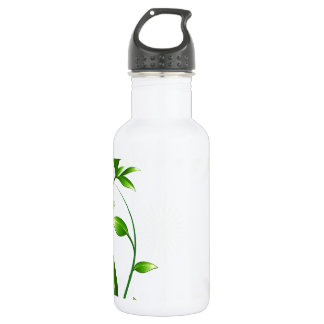 Green Plant Fash Stainless Steel Water Bottle