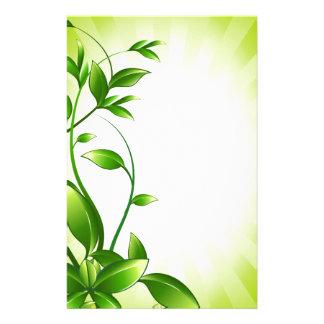 Green Plant Fash Stationery