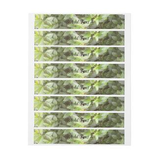 Green plant leaf wrap around address label
