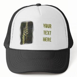 Green Plant Mesh Hats